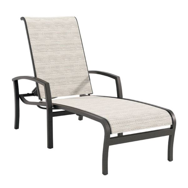 Tropitone Muirlands Sling Chaise Lounge with Full-Body Aluminum Frame - 22 lbs.