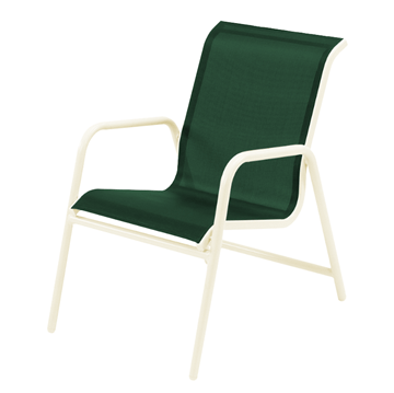 Neptune Dining Chair Fabric Sling with Stackable Aluminum Frame