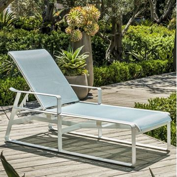 Samba Sling Chaise Lounge with Full-Body Powder-Coated Aluminum Frame - 22.5 lbs.