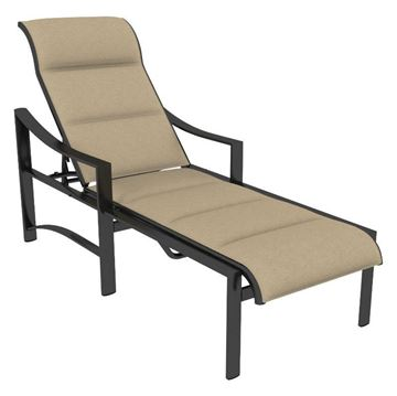 Tropitone Kenzo Padded Sling Chaise Lounge with Commercial Aluminum Frame - 29.5 lbs.