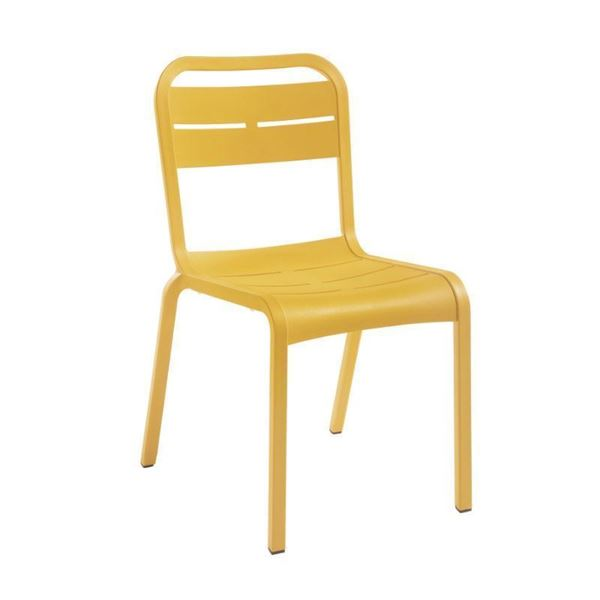 Cannes Armless Dining Chair with Fiberglass-Reinforced Resin Frame - 8.5 lbs.