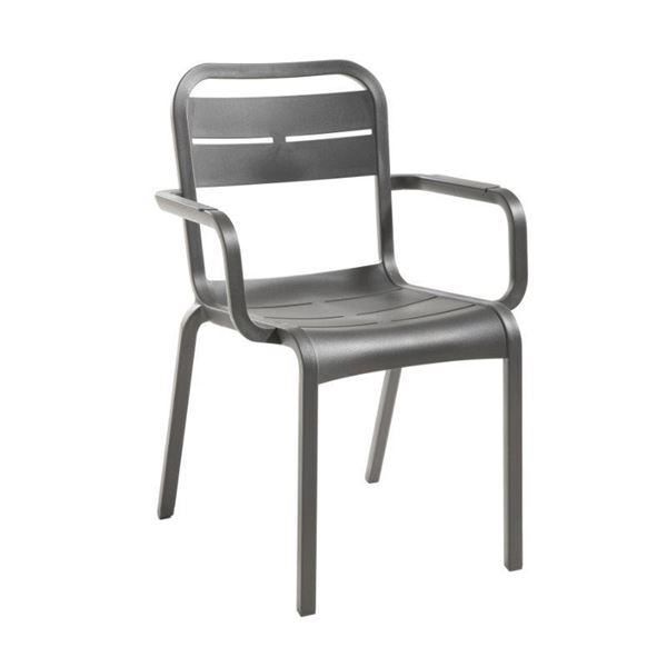Cannes Dining Armchair with Stackable Commercial Frame - 10 lbs.