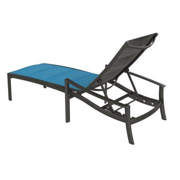 Tropitone KOR Padded Sling Chaise Lounge with Full-Body Aluminum Frame - 31 lbs.
