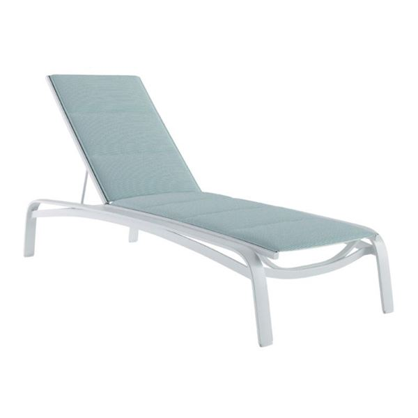 Tropitone Laguna Beach Padded Sling Chaise Lounge with Heavy-Duty Stackable Frame - 37.5 lbs.