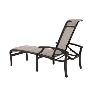Tropitone Marconi Padded Sling Chaise Lounge with Powder-coated Aluminum Frame - 30.5 lbs.