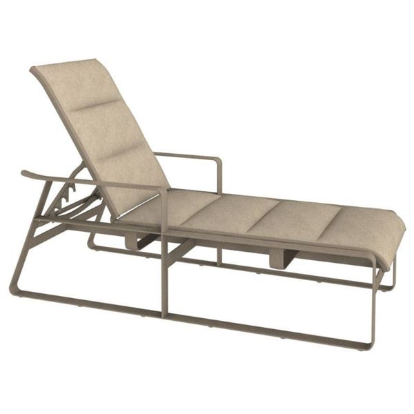 Tropitone Samba Padded Sling Chaise Lounge with Commercial-Grade Aluminum Frame - 49.5 lbs.