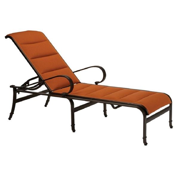 Tropitone Torino Padded Sling Chaise Lounge with Powder-Coated Aluminum Frame - 30.5 lbs.