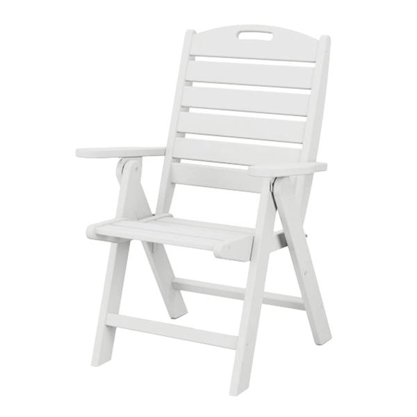 Polywood Nautical High Back Folding Dining Chair