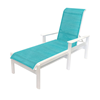 Hampton Chaise Lounge Fabric Sling with Marine Grade Polymer Frame
