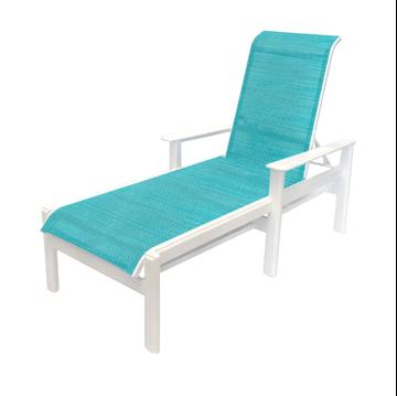 Hampton Chaise Lounge Fabric Sling with Marine Grade Polymer Frame