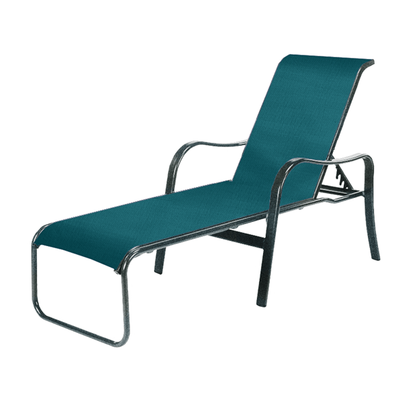 Sonata Chaise Lounge, Sling Fabric with Aluminum Frame