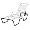 Sanibel Full-Body Vinyl Strap Chaise Lounge with Aluminum Frame - 27