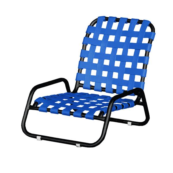 Sanibel Basketweave Vinyl Strap Sand Chair - 11 lbs.