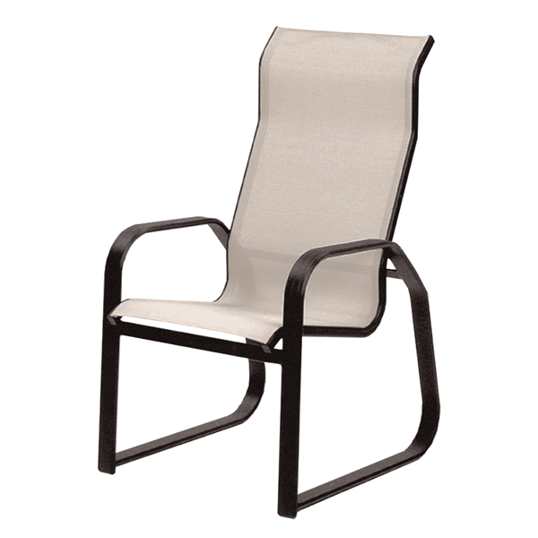 Supreme Sled Dining Chair with Aluminum Frame - 15 lbs.