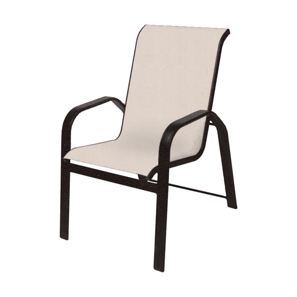 Maya Sling Stackable Dining Chair with Aluminum Frame - 14 lbs.