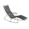 Ledge Lounger Playnk Chaise Lounge with Resin Slats and Bamboo Armrests - 30 lbs.