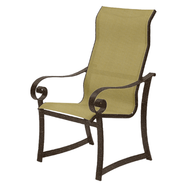 Orleans Sling Supreme Dining Chair with Commercial Aluminum Frame - 18 lbs.