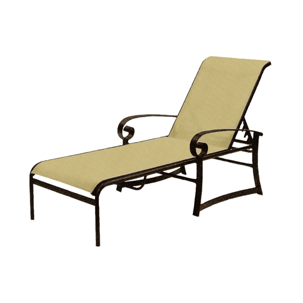 Orleans Sling Chaise Lounge with Commercial Aluminum Frame - 32 lbs.