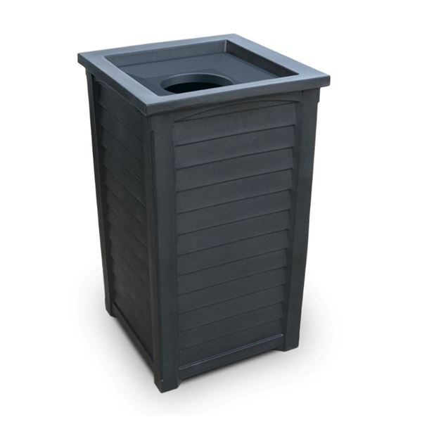 22.5-Gallon Lakeland Commercial Waste Bin with Liner and Removable Lid - 38 lbs.