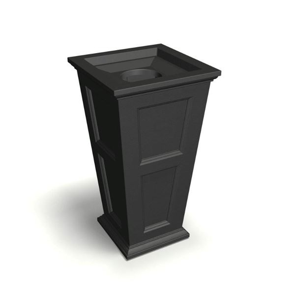 """24-Gallon Fairfield 40"""" Waste Bin with Liner and Removable Lid - 39 lbs."""