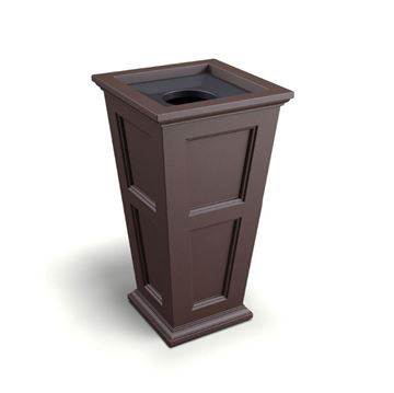 "24-Gallon Fairfield 40"" Waste Bin with Liner and Removable Lid - 39 lbs."