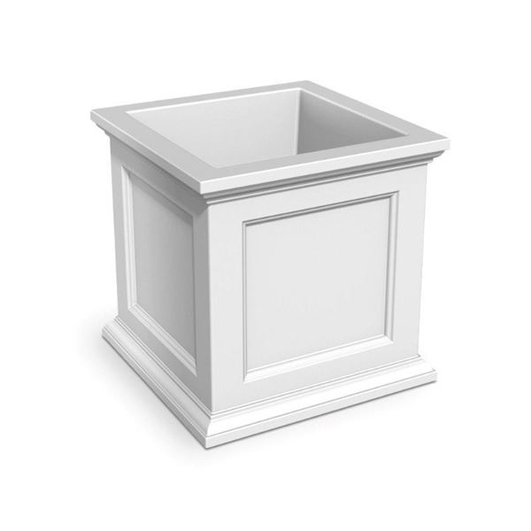 """Fairfield 28"""" Square Commercial Planter with Impact-Resistant Frame - 45 lbs."""