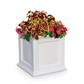 "Fairfield 28"" Square Commercial Planter with Impact-Resistant Frame - 45 lbs."