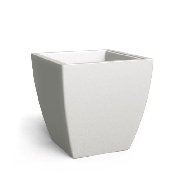 """Kobi 24"""" Square Commercial Planter with Overfill and Reservoir System - 22 lbs."""