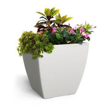 "Kobi 24"" Square Commercial Planter with Overfill and Reservoir System - 22 lbs."