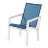 Madrid Dining Chair Fabric Sling with Aluminum Frame