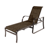 Corsica Chaise Lounge with Arms Fabric Sling