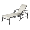 Eclipse Chaise Lounge with Arms Fabric Sling