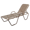 St. Maarten Chaise Lounge With Arms, Crossweave Vinyl Straps And Aluminum Frames