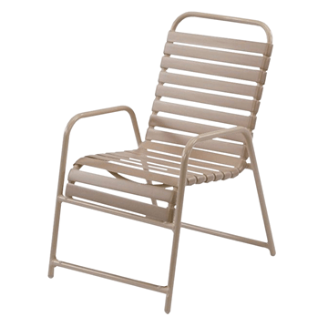 St. Maarten Dining Chair Vinyl Straps with Aluminum Frame