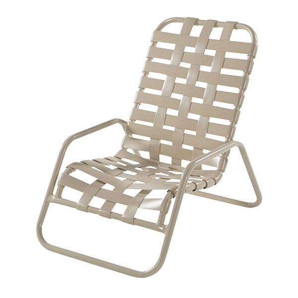 St. Maarten Sand Chair, Pool Furniture with Vinyl Crossweave Straps and Aluminum Frames