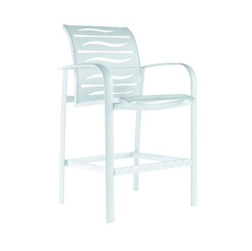 Laguna Beach EZ-Span Vinyl Strap Bar Stool in Ribbon and Wave Segments - 22 lbs.