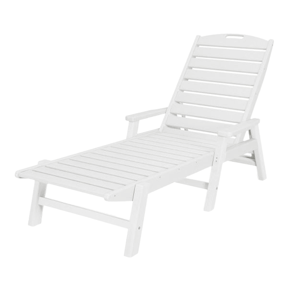 Polywood Nautical Recycled Plastic Chaise Lounge With Arms