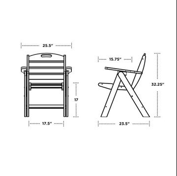 Polywood Nautical Lowback Folding Chair