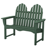 Polywood Adirondack Bench 48 Inch Recycled Plastic