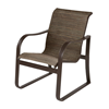 Corsica Dining Arm Chair, Sling Fabric