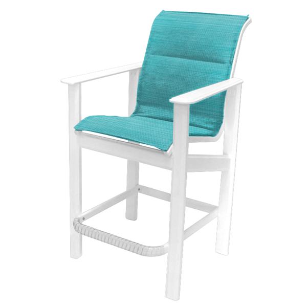 Hampton Bar Chair Fabric Sling with Marine Grade Polymer Frame