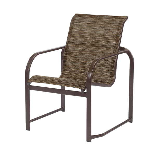 Monterey Dining Chair Fabric Sling with Stackable Aluminum Frame