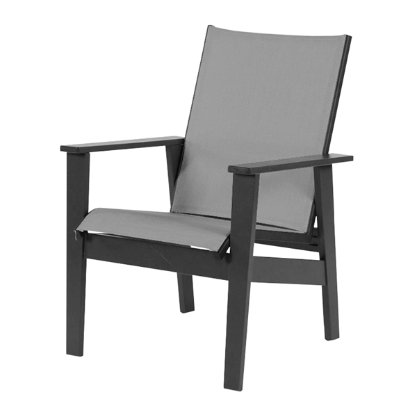 Sienna Dining Arm Chair Fabric Sling with Marine Grade Polymer Frame