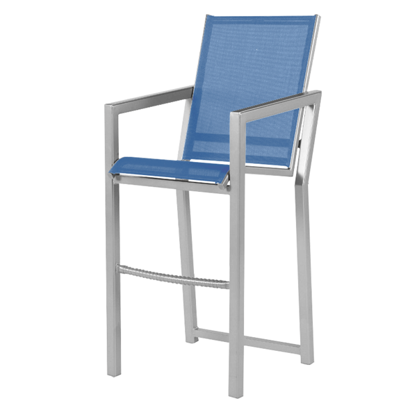 Madrid Bar Chair Fabric Sling with Aluminum Frame