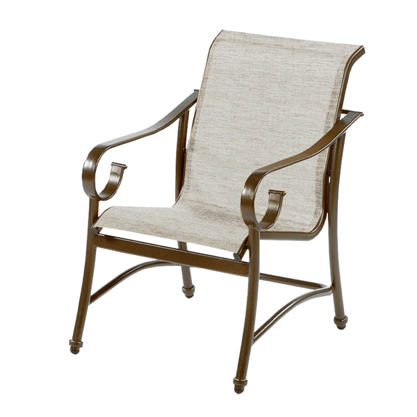 Tradewinds Dining Chair Fabric Sling with Aluminum Frame
