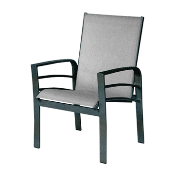 Skyway Dining Arm Chair, Sling Fabric with Aluminum Frame