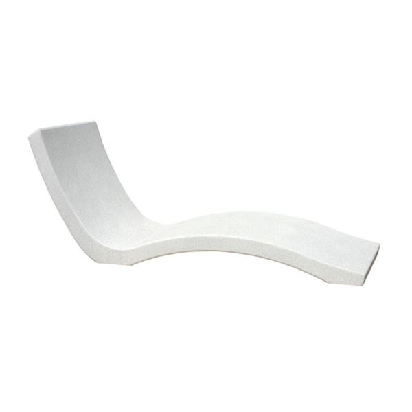 Concrete Wave Chaise Lounge with Reinforced Rebar Frame and Surface Finish Options - 1430 lbs.