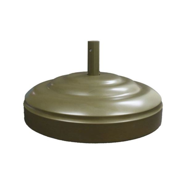 "Umbrella Base 23"" Diameter Aluminum Filled With Concrete - 160 lbs."