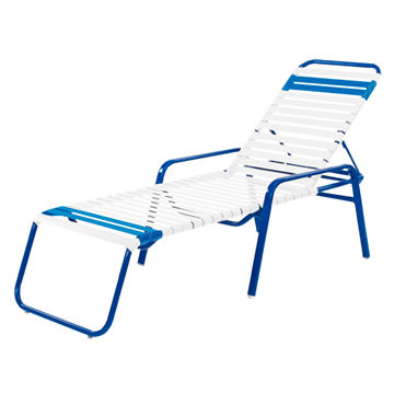 Bermuda Chaise Lounge with Arms Vinyl Strap