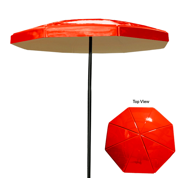 6 Foot Valance Octagon Fiberglass Umbrella